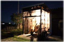 夜の木工場