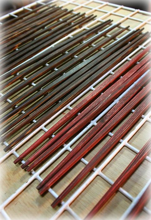 杉の利休箸2 国産漆