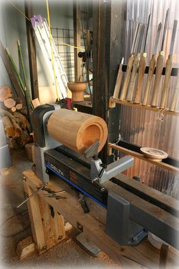 木工旋盤 国産漆1