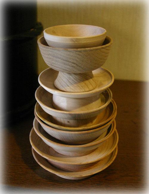 木工旋盤で挽いた木地1