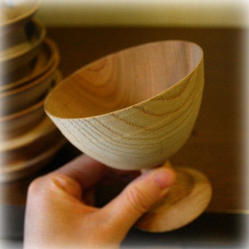 木工旋盤で挽いた木地2