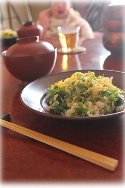 初節句 菜の花のちらし寿司