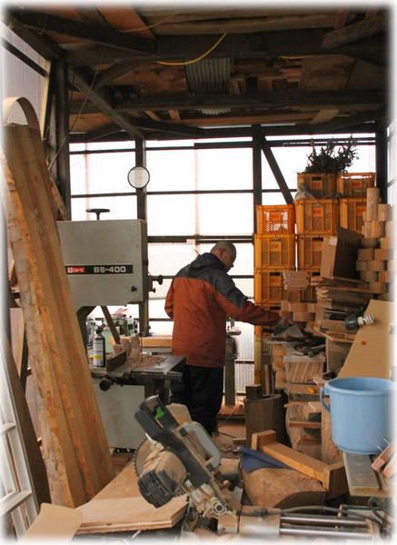木工場の片付け