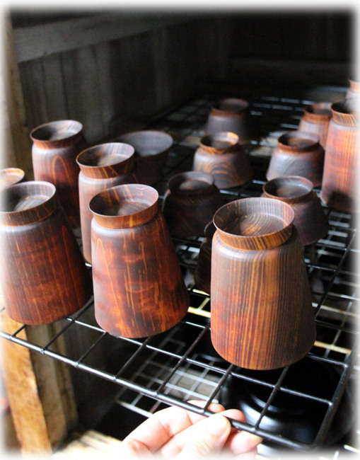 檜の湯飲み