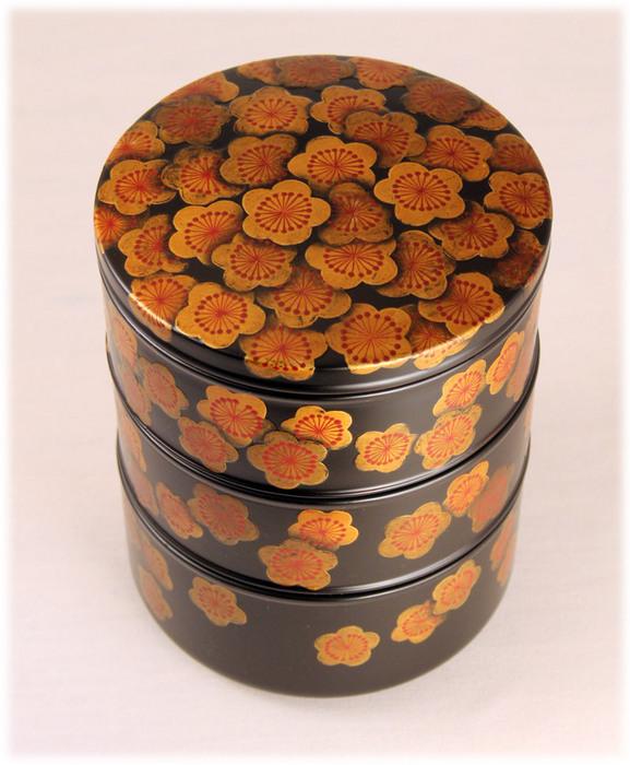 梅の紋丸重箱