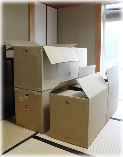 作品展の荷造り