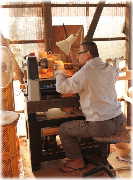 木工旋盤 松本和明 木地制作 和うるし工房あい