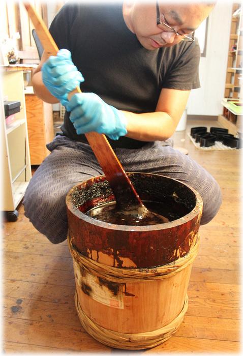 国産漆の樽 浄法寺漆 和うるし工房あい