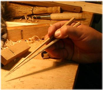 3/31手削りした箸の木地