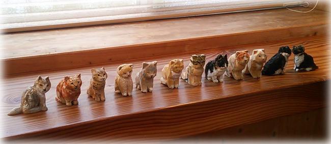 はしもとみお展 ワークショップの猫