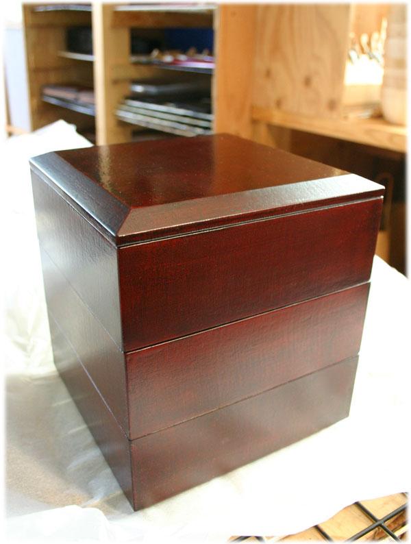 六寸布目三段重箱