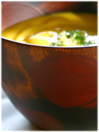 フリーカップとパンプキンスープ2